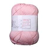 SODIAL (R)Fils de coton de Tencel bambou pour bebe - Rose clair