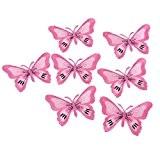 Souarts Écusson Brodé Patch Thermocollant Papillon Rose pr DIY Denim Fabric 5PCS