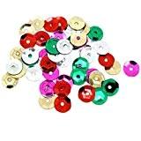 Souarts Mixte Paillette Sequin Forme Rond Hexagone Couleur Dore 7mm Lot de 5000pcs