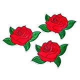 Souarts Motif Cartoon Rose Écusson Brodé Patch Thermocollant pr DIY Denim Fabric Rouge 8x12cm 1PC
