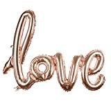 sourcingmap® Feuille d'aluminium LOVE Ballon Mariage Soirée Anniversaire Fêter Décor Rose Or