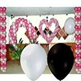 Spaf Décoration Mariage - Coffret décoration ballon mariage blanc noir Coffret kit 412 ballons nacrés 18cm, 30cm, 1mtr et explosif