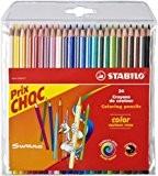 STABILO color - Pochette de 12 crayons de couleur - Coloris assortis