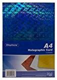 Stephens Pack de 3 feuilles de carte holographique