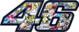 Sticker pegatina adhesivo Sticker 46 Coque arriere Coque Case The Doctor Valentino Rossi VR46 Yamaha Tuning 10 cm Aufkleber autocollant