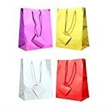 Tallon holographique cadeau sacs (Lot de 12), Red/Silver/Gold/Purple, Taille L