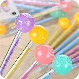 Tankerstreet 12 pcs Lollipop Pen Couleurs assorties Cute Lovely Candy Forme Ballpen Creative papeterie école Fournitures de bureau enfants étudiants Filles ...
