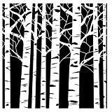 The Crafter's Workshop Pochoir Atelier Aspen arbres Mini modèle