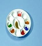 The Society for All Artists Palette ronde en porcelaine avec 12 mélange de puits