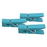 TININNA Pinces à Linge en Bois 3.5*0.8cm Craft Clips Papier Photo Peg Décoration Table pour Mariage Baptême 100pcs Bleu Clair