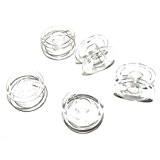 TinkSky 25pcs 2,1 cm clair plastique intérieur Machine à coudre bobines pour Brother /Singer /Toyota /Janome