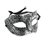 TINKSKY mascarade visage masque hommes romain pour Déguisements ballon Halloween Silver