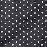 Tissu coton enduit étoile blanche - Bleu marine foncé