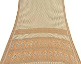 Tissu d'artisanat de Sari imprimé floral indien de Saree de coton pur de coton