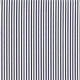 Tissu de coton imprimé | Collection 'bébé matelot' | Rayures marines - Bleu / blanc | 140cm (0.5 mètre)