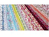 Tissu Patchwork - Jelly Roll - Lot de 25 bandes de tissu pour Patchwork, Quilting, Loisir Créatifs