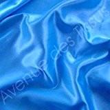 Tissu satin princesse, polyester au mètre - Bleu Roi Réf 12 - Avenue des Tissus