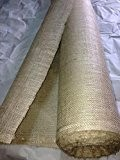 Tissu TOILE DE JUTE ecru naturelle au metre largeur 150 cm