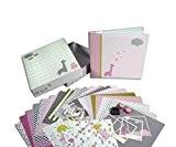 Toga KT72 Scrapbox Naissance Fille Kit de Scrapbooking Papier Rose 23 x 26 x 5,5 cm
