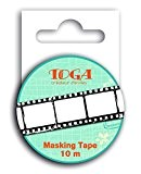 Toga MT100 Ruban de Masquage Négatif Photo Washi Tape Noir/Blanc 5,5 x 7 x 1,5 cm