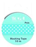 Toga MT30 Ruban de Masquage Pois Washi Tape Blanc/Bleu 5,5 x 7 x 1,5 cm