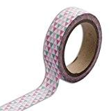 Toga MT88 Ruban de Masquage Triangles Washi Tape Vert/Rose 5,5 x 7 x 1,5 cm
