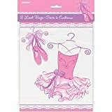 Unique Party - 49493 - Paquet de 8 Pochettes - Cadeau Ballerine - Rose