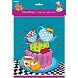 Unique Party - 49513 - Paquet de 8 Pochettes - Cadeau - Tea Party - Chapelier Fou