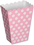 Unique Party - 59298 - Paquet de 8 Boîtes de Pop-Corn à Pois - Rose Pastel
