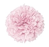 Unique Party - 63200 - Pompon de Décoration en Papier de Soie - 40 cm - Rose Pastel