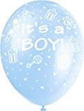 Unique Party - 80244 - Paquet de 5 Ballons Nacrés - It's a Boy - Latex - Fête Baby Shower ...