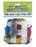 Unique Party - 9011 - Banderole de Lettres Brillante - Happy Birthday - 1,4 m