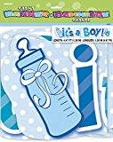 Unique Party - 90509 - Banderole de Baby Shower pour Garçon - It's A Boy - 1,4 m