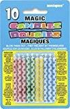 Unique Party - 9806 - Bougies Magiques d'Anniversaire Motif à Losange - Coloris Aléatoire