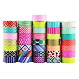 UOOOM 10 rouleaux Washi Tape Ruban Adhésif Papier Décoratif Masking tape Scrapbooking (Pattern-1)
