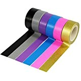 UOOOM 6 rouleaux 10m x 15mm Washi Tape Ruban Adhésif Papier Décoratif Masking tape Scrapbooking (6 colors)