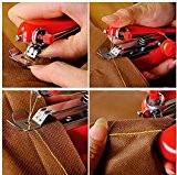 Utile Needlework Kit point sans fil portable Mini Handheld machine à coudre Vêtements Tissus