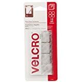 """Velcro(R) marque collant BACK(R) carrés 7/8 """"12/Pkg-Clear"""