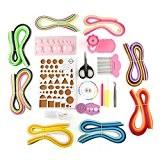 VERY100 3mm Kits de quilling avec 36couleurs*20pcs Bandes papiers +outil nécessaires Dérives papier DIY