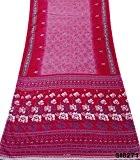 Vintage Indien Rose Saree Rideau Draper Tissu Recyclé Couture Robe Soie Mélange Imprimé Floral Sarong Wrap Sari 5Yd