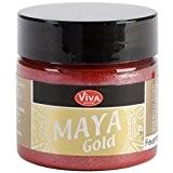 Viva Decor Maya Gold Peinture pour travaux manuels Rouge feu