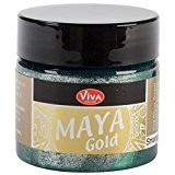 Viva Decor Maya Gold Peinture pour travaux manuels Vert émeraude
