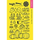 "Waffle Flower Crafts Clear Stamps 4""X6""-Trick Or Treat"