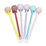 westeng Lot de 6Creative Lovely Lollipop stylo à bille Stylo fantaisie Jouets pour enfant