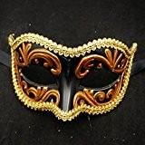 XJoel Princesse Half Face Mysterious exquis mascarade masque Party Dress Up Femmes Masque Masque vénitien Décoré Adulte Danse Parties Noir