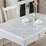 XMMLL La Nappe Matte sans huile étanche résistant aux températures douces Glasspvchigh nappes de table de salle à manger café ...