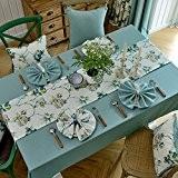 XMMLL Tissus nappe idyllique américain le linge de table sets de table de salle à manger Tables Chaises linge de ...