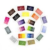 Yalulu Craft Tampon encreur, Artcastle 21Couleurs Tampon encreur de Lot, enfants, bricolage, Rainbow, Finger Print, lavable