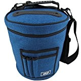 Yarn Storage Bag for Ultimate Organization. Portable, Lightweight and Easy to Carry Knitting/Crochet Yarn Holder with Pockets for Accessories and ...