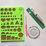 Yontree Kit Quilling Outil de Quilling Pince Moule Scrapbooking DIY Art de Papier